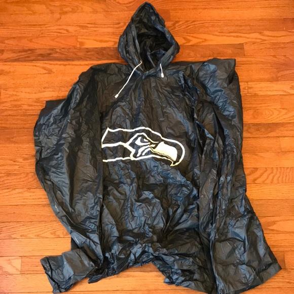 timeless design fabbd 51177 Seattle Seahawks Football NFL Rain Poncho OSFA